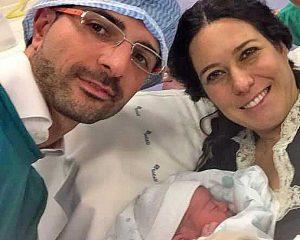 Virginia Sabatini con i genitori Daniele e Antonella