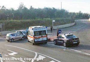 Viterbo - Incidente tra strada Ponte Sodo e la Cassia Sud