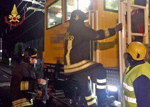 Firenze - Incidente ferroviario - Vigili del fuoco