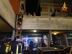 Reggio Emilia - L'incendio nella palazzina