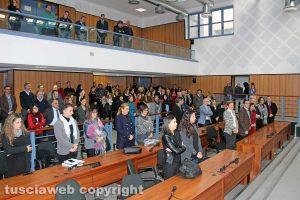 Viterbo - Scambio di auguri di Natale in tribunale