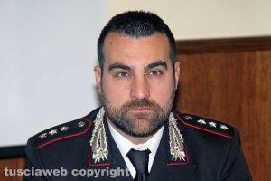 Viterbo - Il capitano dei carabinieri Federico Lombardi