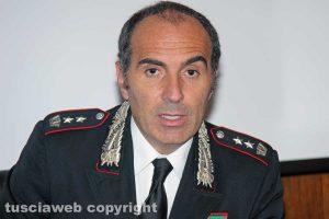 Viterbo - Il tenente colonnello dei carabinieri Pierugo Todini