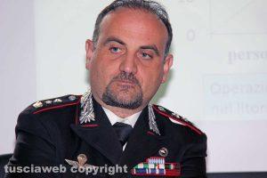 Viterbo - Il tenente colonnello dei carabinieri Guglielmo Trombetta