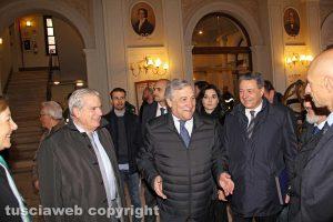Viterbo - Tajani arriva al teatro dell'Unione