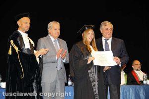 Viterbo - Tajani, Arena e Ruggieri premiano i laureati dell'Unitus
