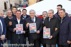 Viterbo - Gazebo di Forza Italia a piazza del Teatro