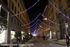 Natale a Viterbo - Illuminazione a via Marconi