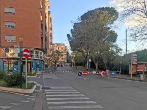 I lavori in via Vicenza