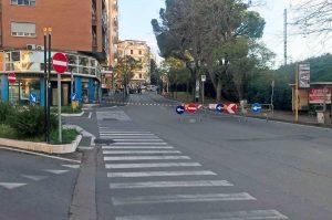 Viterbo - Via Vicenza - Lavori al collettore fognario
