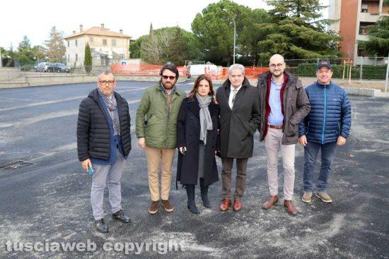 Viterbo - Largo De Santis, conclusi i lavori