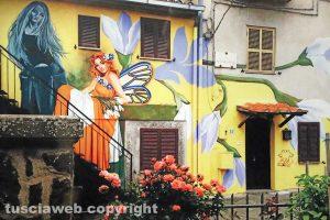 Viterbo - Uno dei murales di Sant'Angelo