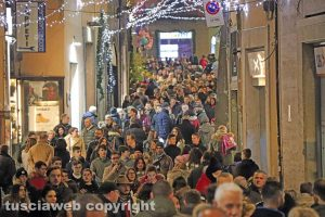 Viterbo - Corso Italia a Natale