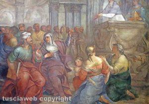 Viterbo - Sant'Agostino e Santa Monica ascoltano la predica di Sant'Ambrogio (XVII secolo)