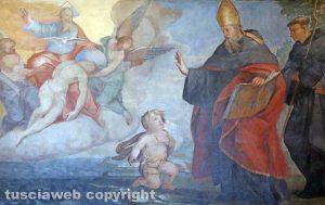 Viterbo - Il putto, Sant'Agostino e il mistero della Trinità (XVII secolo)
