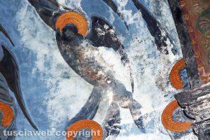 Viterbo - Gli affreschi di Pietro Vanni a dicembre