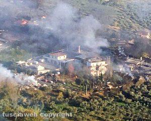 Rieti - Esplosione sulla Salaria - La zona dall'alto