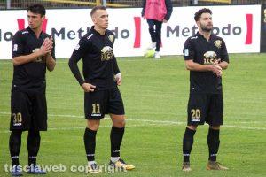 Sport - Calcio - Viterbese - Samuele Damiani, Jari Vandeputte e Mario Pacilli