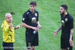 Sport - Calcio - Viterbese - Stefano Sottili con Zivko Atanasov e Francesco De Giorgi