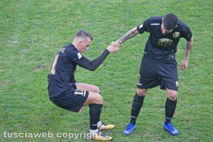 Sport - Calcio - Viterbese - Jari Vandeputte e Francesco De Giorgi