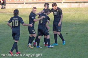 Sport - Calcio - Viterbese - L'esultanza di Pacilli dopo il 3-0