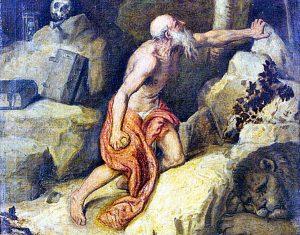 Il San Girolamo penitente dell'accademia nazionale di san Luca di Roma