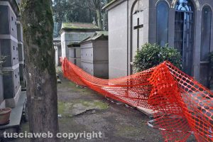 Viterbo - I lavori al cimitero