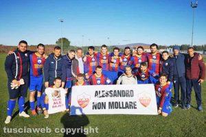 Sport - Calcio - Blera - Lo striscione per Alessandro Perazzoni