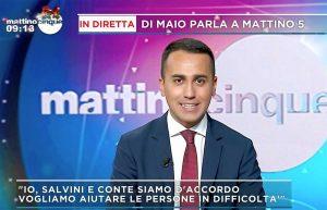 Luigi Di Maio a Mattino 5