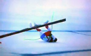 Selva di Val Gardena - Coppa del mondo di discesa maschile - La caduta di Gisin