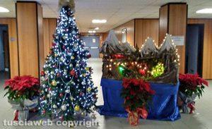 Anche in tribunale il presepe e l'albero di Natale