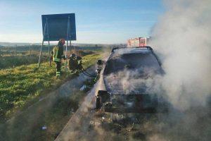Viterbo - Auto in fiamme sulla Superstrada