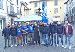 Viterbo - La Lega Giovani in piazza