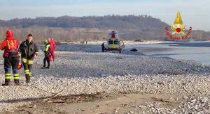 Treviso - Aereo precipita nel fiume Piave - I soccorsi
