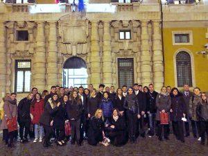 """Roma - Studenti del """"Cardarelli"""" di Tarquinia in visita al senato"""