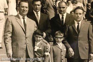 Viterbo - I bambini Mauro Delle Monache e Massimo Tomarelli negli anni Cinquanta