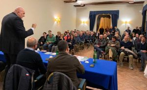 Crosetto a Civita Castellana - A destra in prima fila Daniele Sabatini