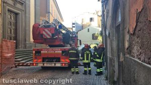 Viterbo - Il crollo di dicembre 2018 in via Cardinal La Fontaine