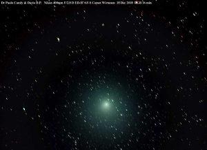 La foto della cometa Wirtanen prima della luna piena