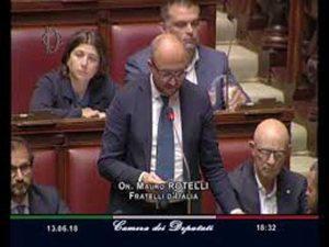 Il deputato Mauro Rotelli (FdI) alla Camera