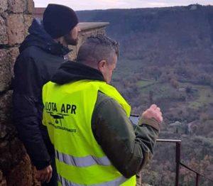 Primo volo di droni per controllare lo stato di salute della rupe di Civita