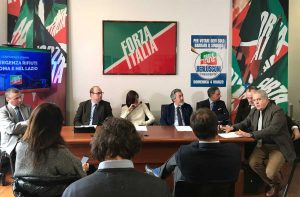 Roma - La conferenza stampa di Forza Italia