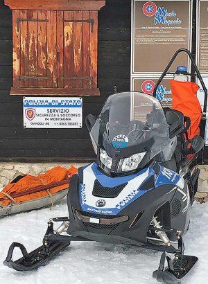 Ovindoli (Aquila) - Polizia sulle piste da sci