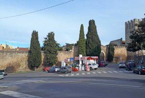 Tarquinia - Il distributore in circonvallazione Cardarelli