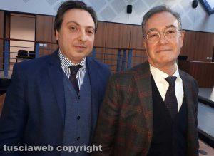 Tribunale - Da sinistra, i professori Massimo Lancia e Mauro Bacci