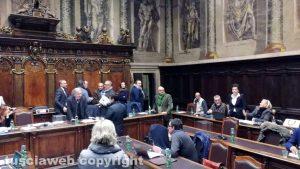 Viterbo - Consiglio comunale - Scontro Arena - Frontini