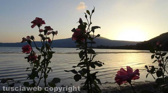Il lago di Vico al tramonto