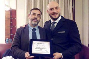 Ronciglione - Targa al merito artistico a Sesto Quatrini