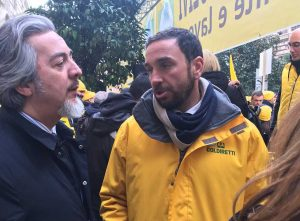 Roma - Francesco Battistoni alla protesta di Coldiretti