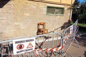 Viterbo - Le case popolari del Carmine dove è divampato l'incendio